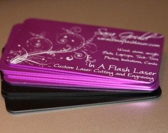 20 Anodized Aluminum Business Cards