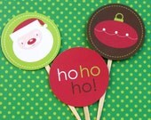 2 inch Christmas Icons  Printable  Cupcake Toppers - Instant Download