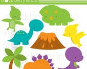 Dinosaurs Personal and Commecial Use Clipart-INSTANT DOWNLOAD