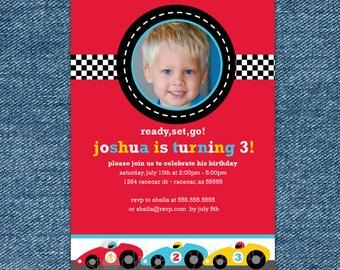 Race Car Birthday invitation Printable - Boy 1st Birthday Invitation - Race Car Party Invitation - boy birthday invitations - race car party