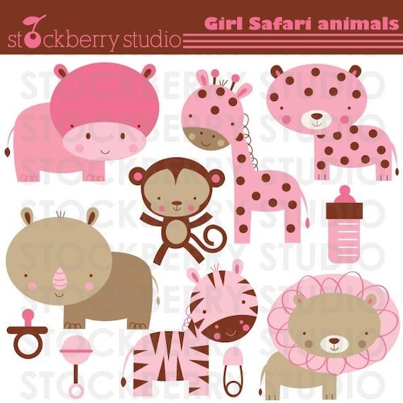 Items Similar To Girl Safari Animals Personal And