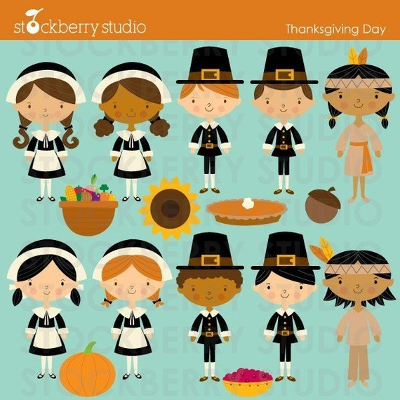 items similar to thanksgiving pilgrims and indians