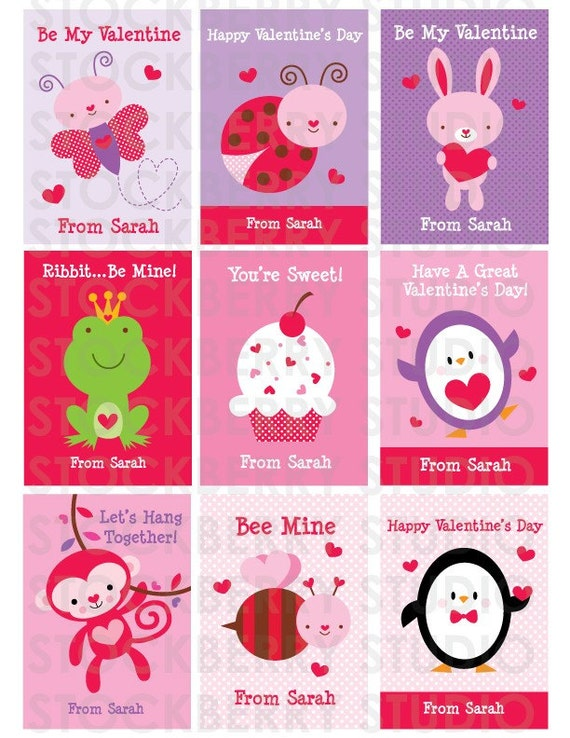 items similar to valentine kids classroom card child