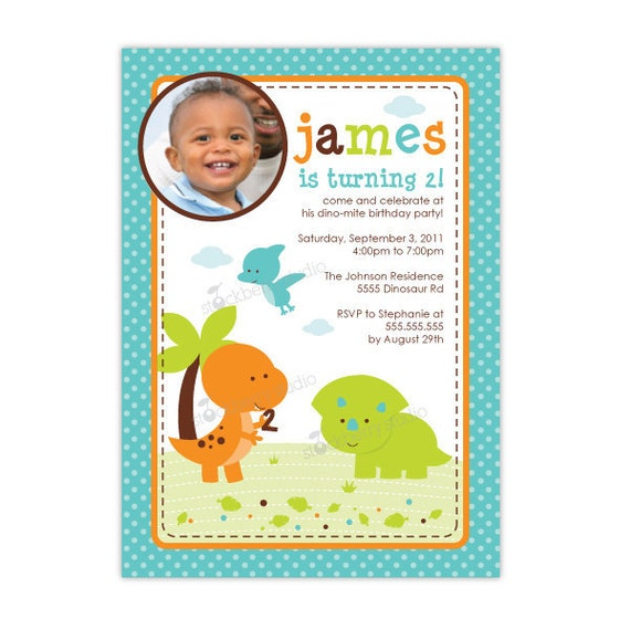 Dinosaur Birthday Invitation Printable - Boy Birthday Invitation - Dinosaur Invitation - Dinosaur Party - Dinosaur Birthday Party