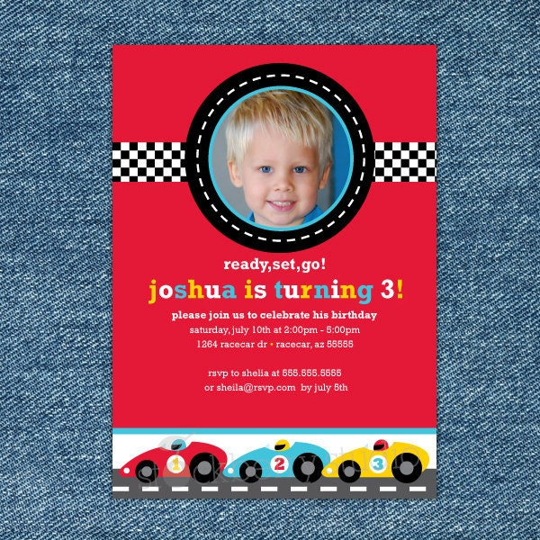 race car birthday invitation printable boy 1st birthday, Birthday invitations