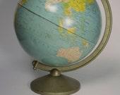 Vintage Tin Globe by Replogle Globes - Eight (8) inch