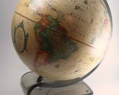 Lighted World Globe with Lucite Base by Scan-Globe - Mod - Denmark