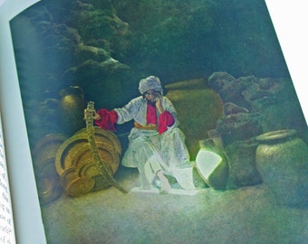 The Arabian Nights by Kate Douglas Wiggin and Nora A. Smith - Gorgeous Illustrations by Maxfield Parrish