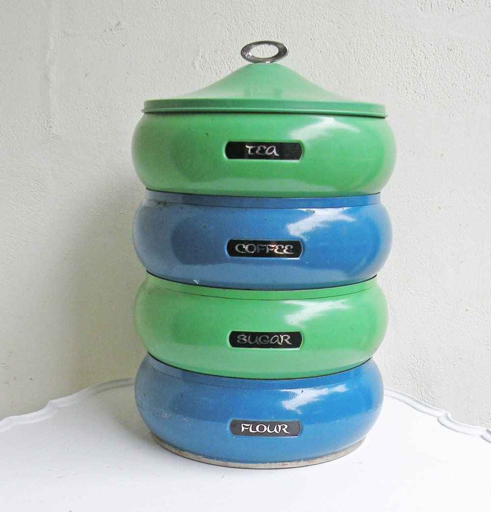 vintage kitchen canisters incredible set of enamel stacking