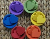 HEART Sorting Game, Waldorf Toy Counting and Color Learning Set