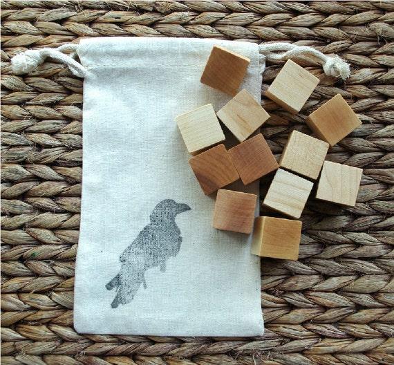 Waldorf Builing Block Set, 12 Piece Wooden Block Set, POCKET BLOCKS All Natural Finish