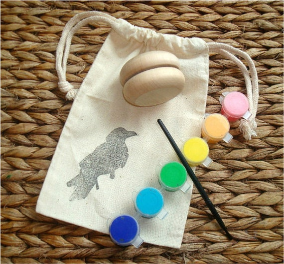 RESERVE for Tara, Paint Your Own Yo-Yo Craft Kit and Ball & Cup Toy