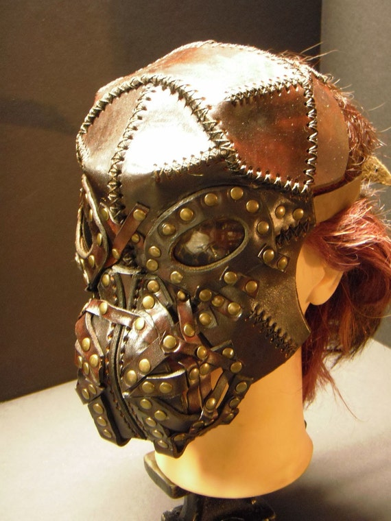 Steampunk leather mask - Wild -