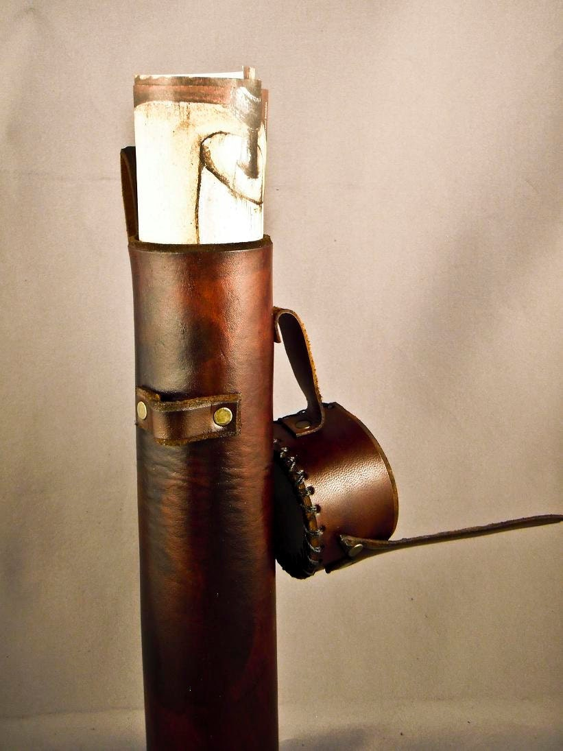 Brown Leather Scroll Case Holster