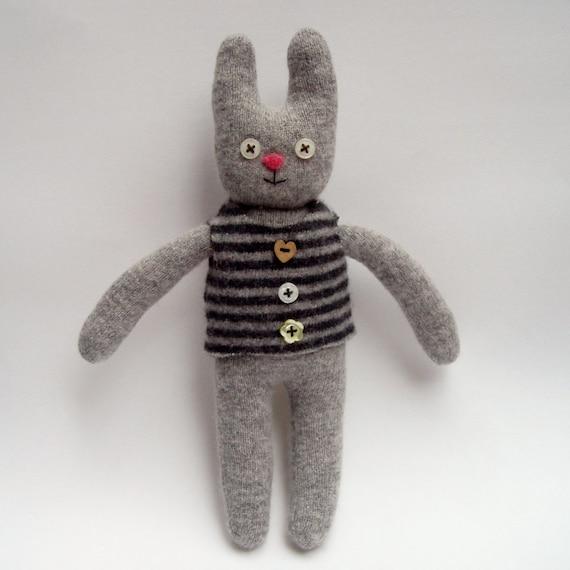 rabbit doll, bunny rabbit woolly toy