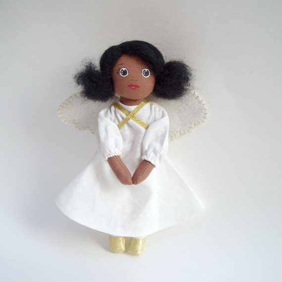 angel doll, ethnic angel, african american angel doll