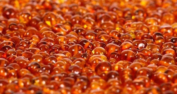 Special offer Loose honey color Baltic amber beads 110  pc. BSlbPB4
