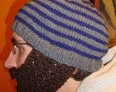 crochet beard pattern for beanie