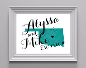 Custom State Art Print 8x10 - State Love