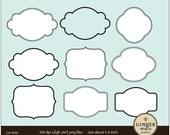 LABELS FRAMES clip art For scrapbooking invitation Commercial Use