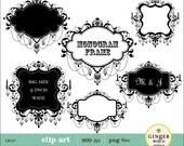 Chandelier LABELS FRAMES digital clipart for scrapbooking, invites(CA137)