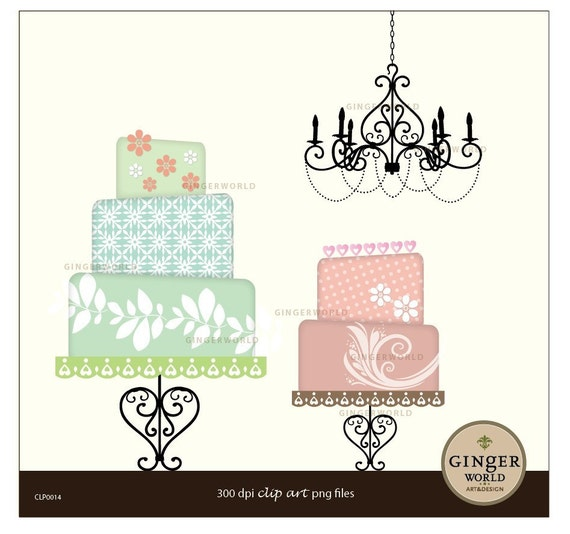 Wedding Cake clipart, cake clip art, wedding printable, DIY invitation scrapbooking
