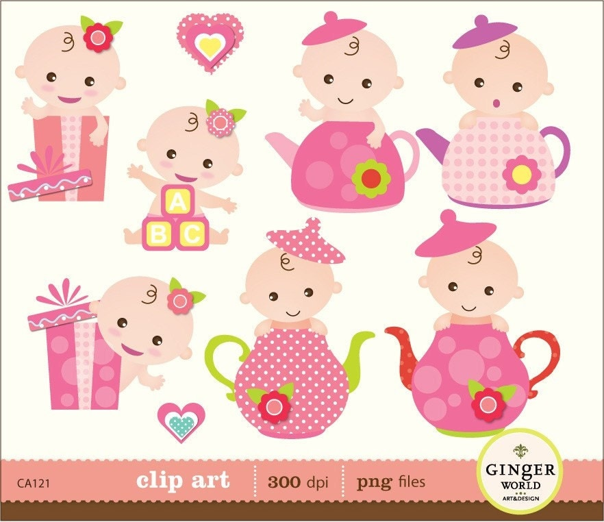 baby girl clipart shower - photo #24