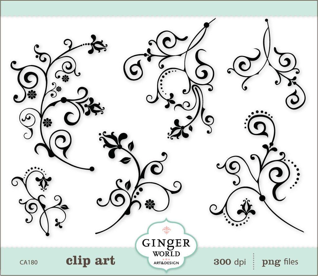 Decorative Designs Clip Art Swirl Decorative Clip Art