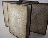 Paris Themed Note Cards - shabby chic distressed brown French Themed Blank Cards