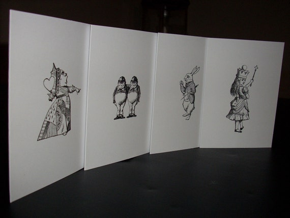 Simply Alice Set of 4 Notecards