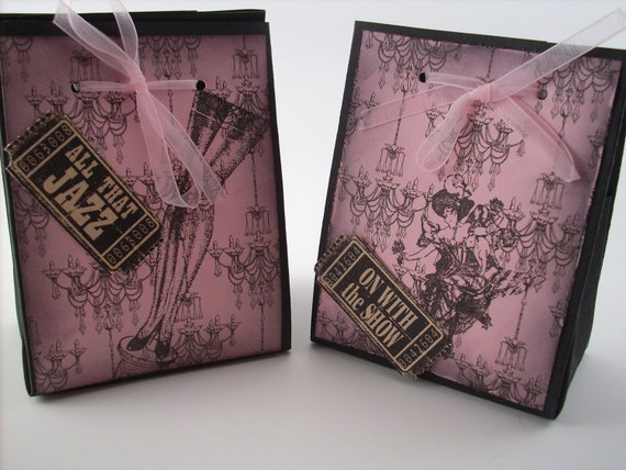 French Wedding Gifts: French Themed Gift Bags Pink And Black Moulin Rouge Favor