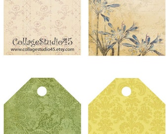 Shabby Chic Earring Labels-No. 3 Instant Download