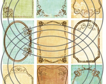 Instant Download Digital Jewelry Earring Display Cards-Weathered Paper-No. 31