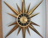 Vintage Welby Atomic Star Wall Clock Eames Era