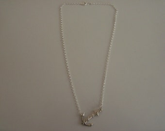 sterling silver anchor  necklace.