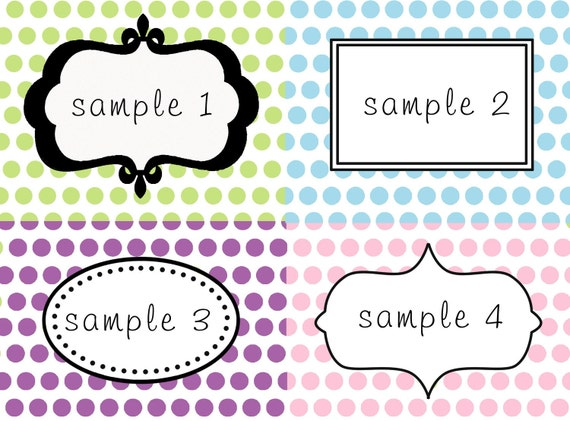 Diy Printable Labels For Dessert Table Or Candy Buffet Polka