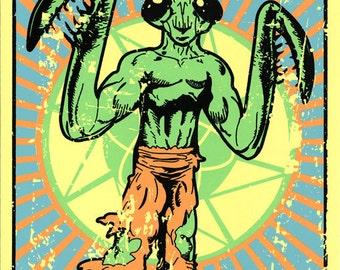 "Anti Mantis Men Propaganda (Portal 2 inspired Silkscreen Print) - 11"" x 17"" SALE"