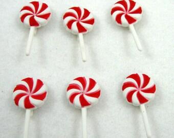 Peppermint Lollipop Buttons
