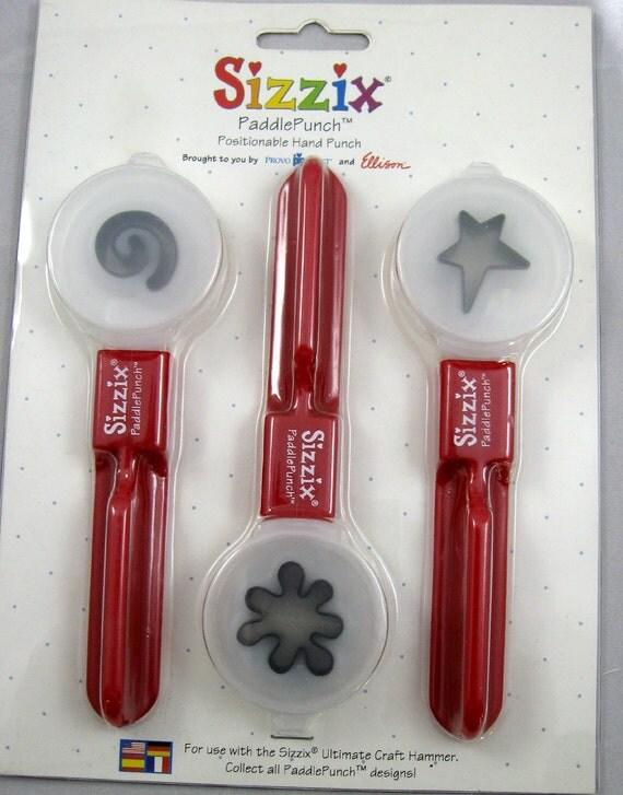 Sizzix Paddle Punch Set Swirl Splat Large Primitive Star No