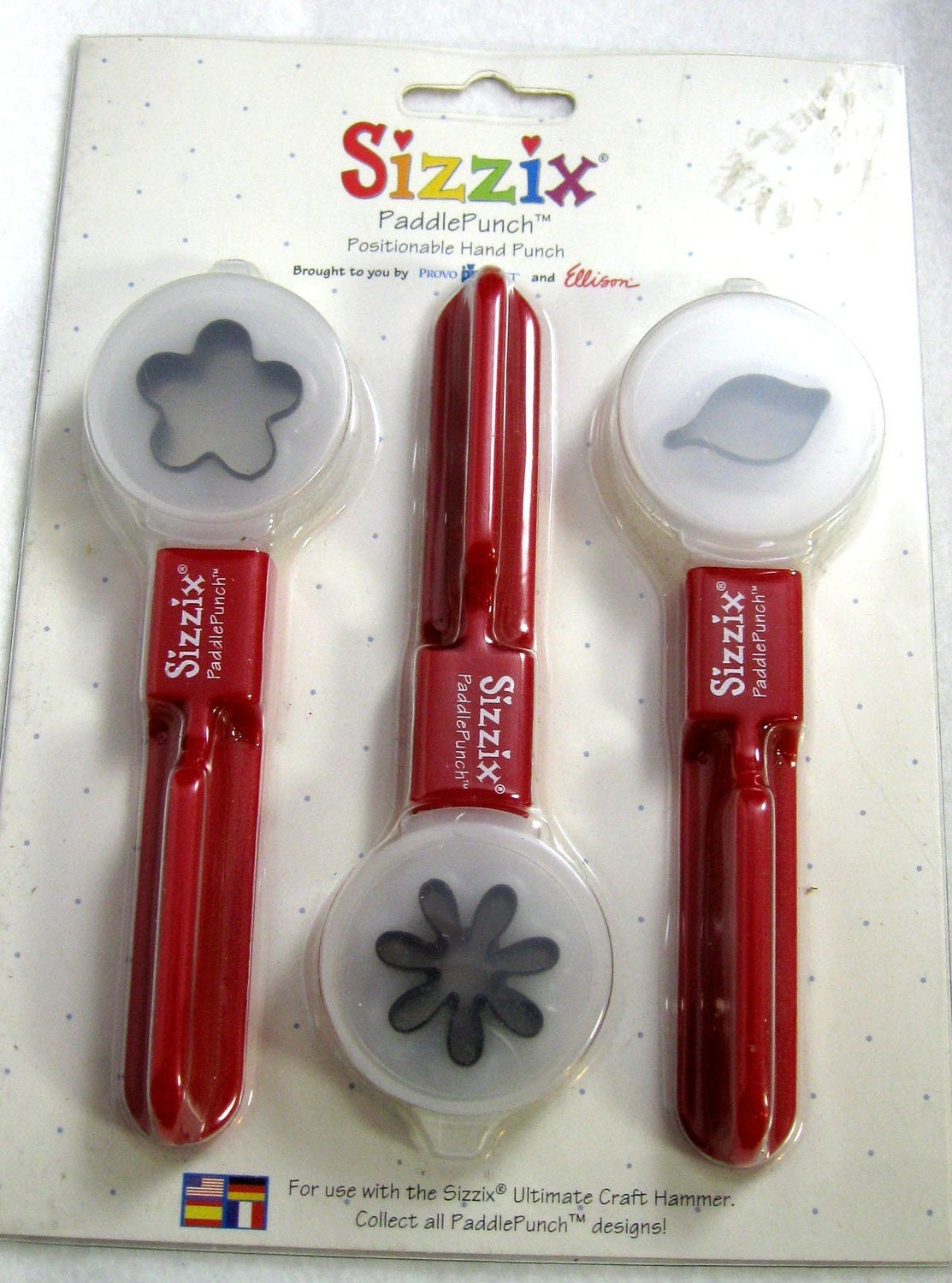 Sizzix Paddle Punch Set Posey Daisy Leaf No 38 0877