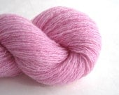 Reclaimed Cashmere Laceweight Yarn, Cotton Candy Pink, 380 Yards