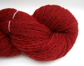 Sport Weight Alpaca Blend Recycled Yarn, Red, 170 Yards