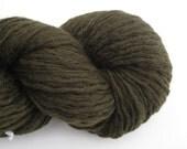 Recycled Wool Yarn, Aran Weight, Forest Green, 220 Yards