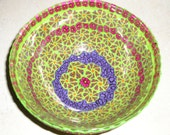 Floral Millefiori Bowl