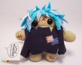 Zombie Patch Plush Doll Keychain