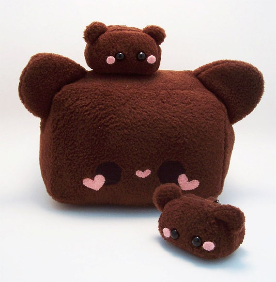 Items similar to Teddy Truffle Chocolate Bear Plush Kawaii Stuffed Toy by Quacked Plush in soft ...