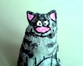Funky and unusual, handmade papier mache cat