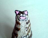 Funky and unusual, handmade papier mache cat