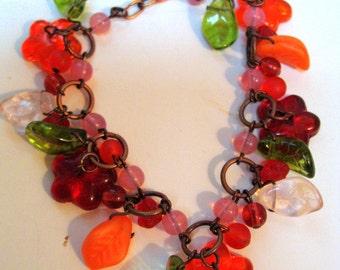 Vintage jewelry, vintage bracelet,  Czech Bohemian Glass Beads, new old stock, unique gift