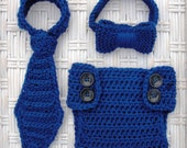 Ties and Diaper Cover Set - Your Choice of Color and Size